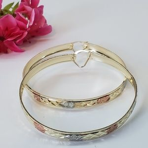 Gorgeous FAMA Rose Gold Over 925 Sterling Silver Infinity Charm Bracelet